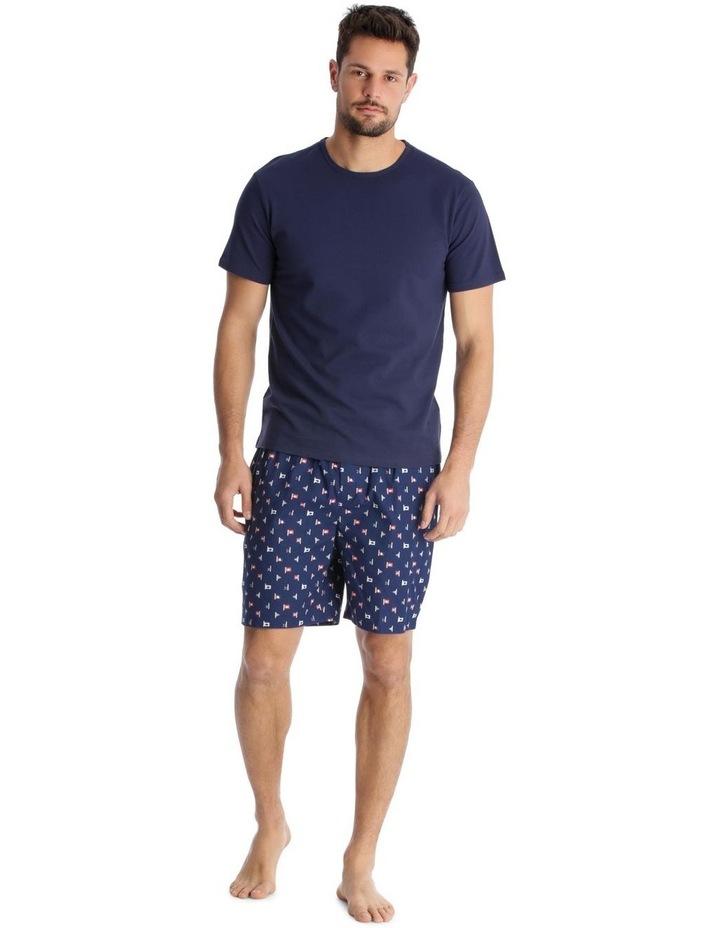 Essentials Short-Sleeve T-Shirt & Short Set - Maritime Check image 1
