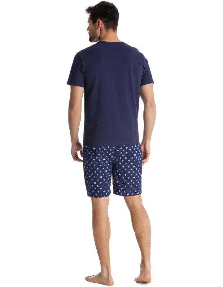 Essentials Short-Sleeve T-Shirt & Short Set - Maritime Check image 2