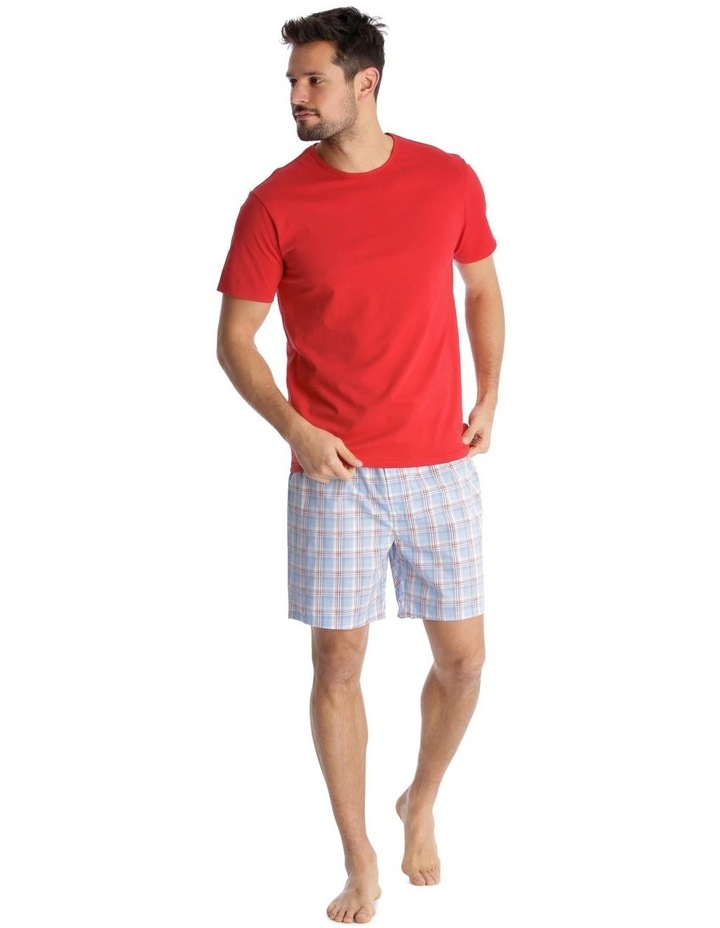 Essentials Short-Sleeve T-Shirt & Short Set - Check image 1