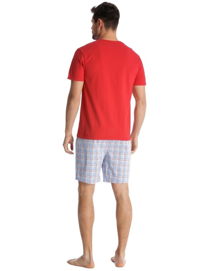 Essentials Short-Sleeve T-Shirt & Short Set - Check image 2