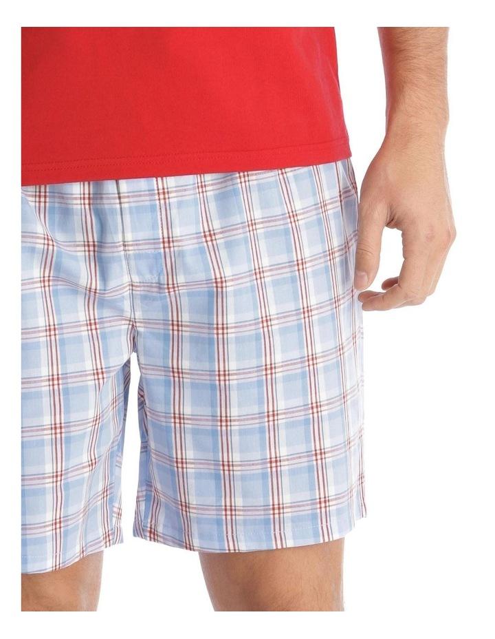 Essentials Short-Sleeve T-Shirt & Short Set - Check image 3