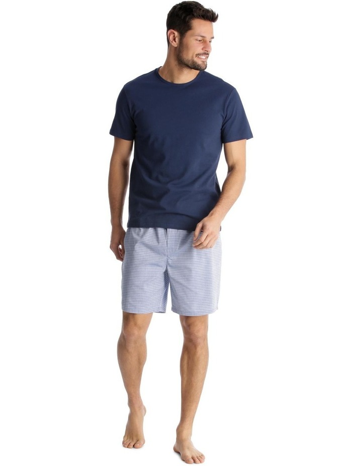 Essentials Short-Sleeve T-Shirt & Short Set - Chambray Stripe image 1