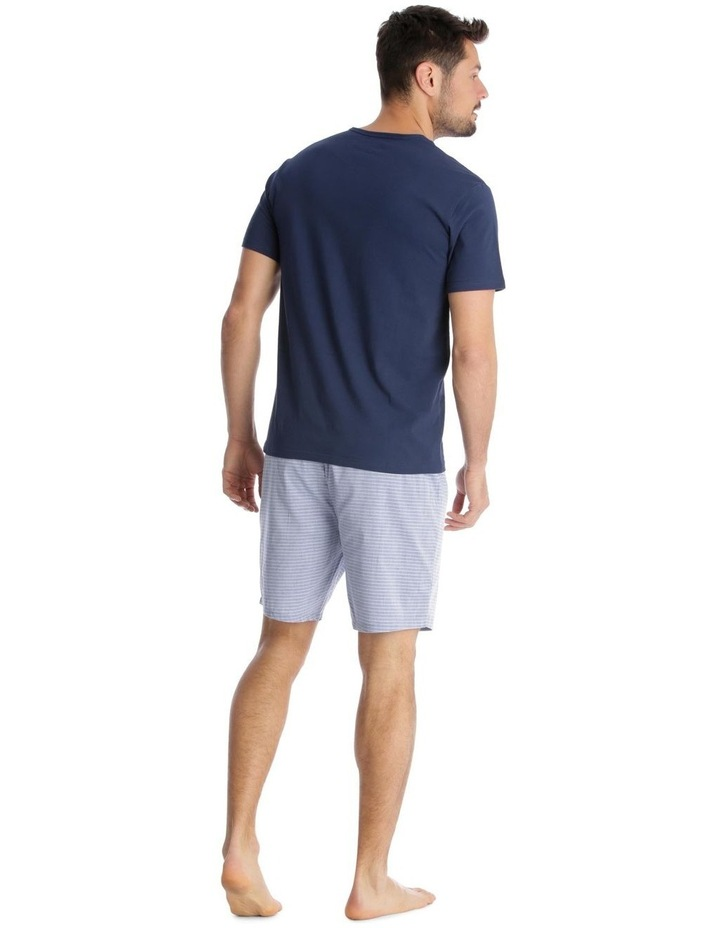 Essentials Short-Sleeve T-Shirt & Short Set - Chambray Stripe image 2