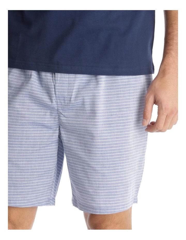 Essentials Short-Sleeve T-Shirt & Short Set - Chambray Stripe image 3