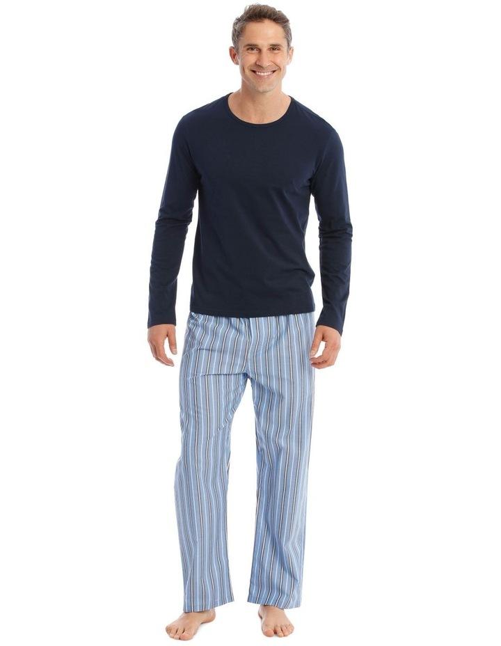 Essentials Long-Sleeve T-Shirt & Stripe Pant Pyjamas image 1