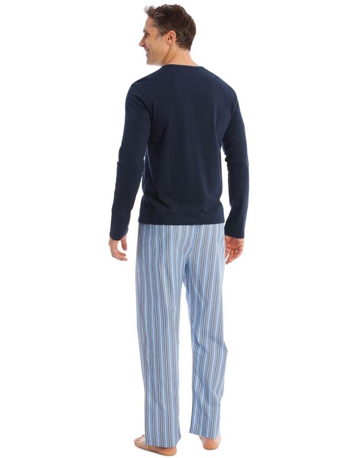 Essentials Long-Sleeve T-Shirt & Stripe Pant Pyjamas image 2