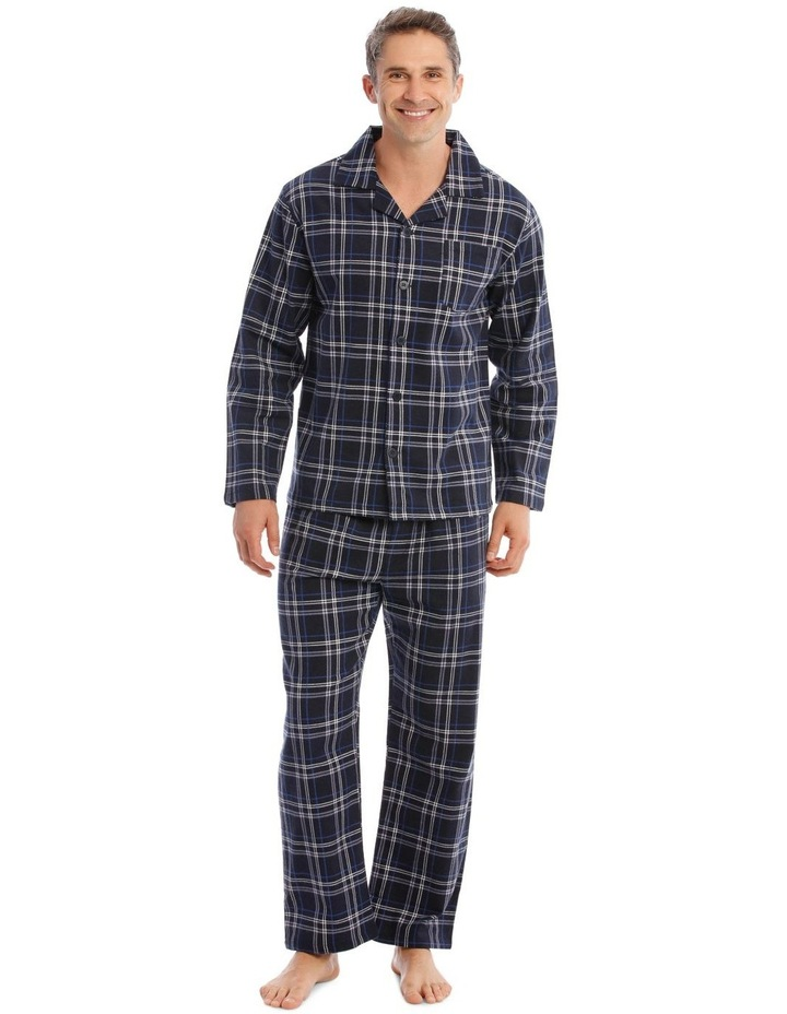 Essentials Long-Sleeve Check Flanelette Pyjamas image 1