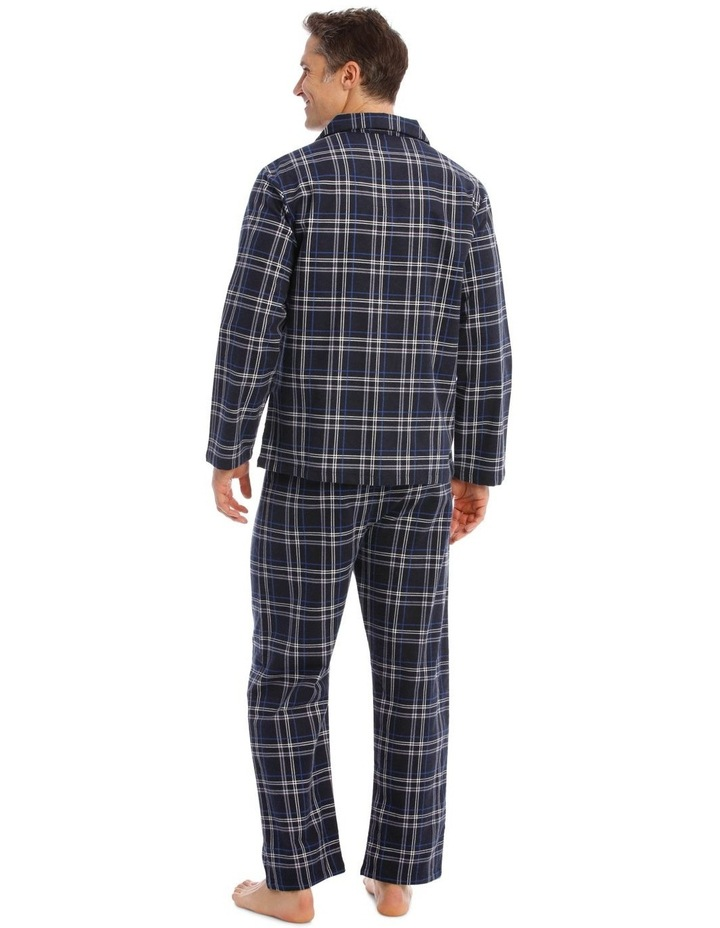 Essentials Long-Sleeve Check Flanelette Pyjamas image 2