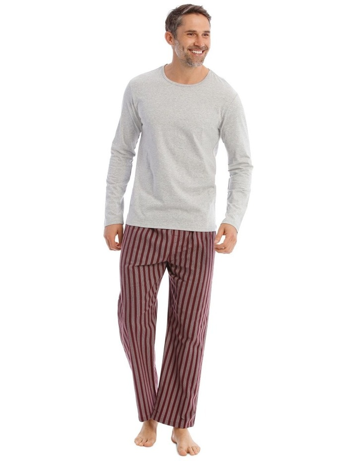 Essentials Long Sleeve Tee & Flannelette Pant PJ Set image 1