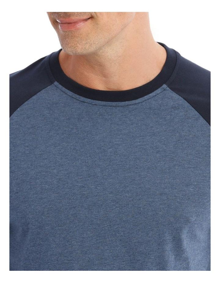 Essentials Long Sleeve Blue T-Shirt & Knit Jogger Pyjamas image 3