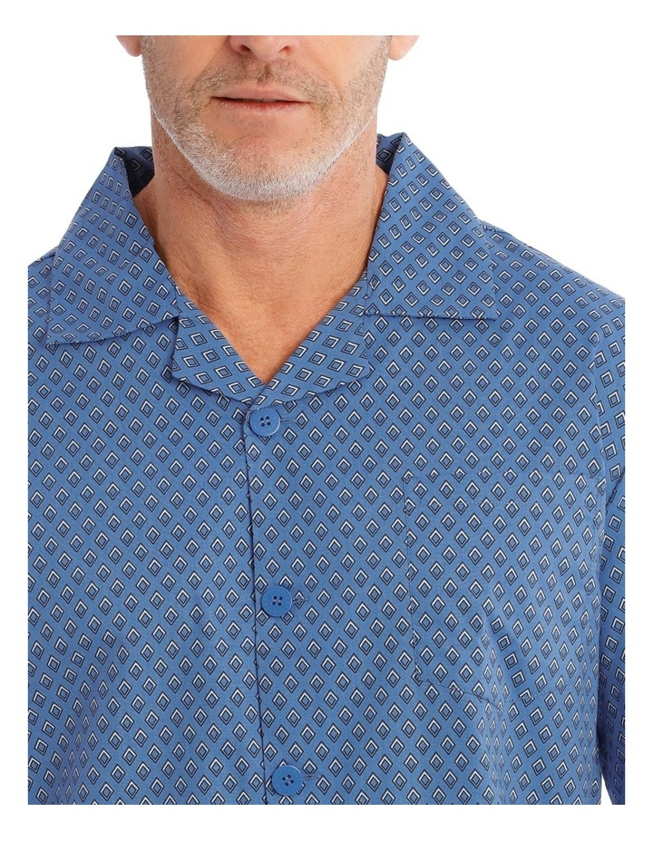 Long Sleeve Poplin PJ Set - Diamonds image 3