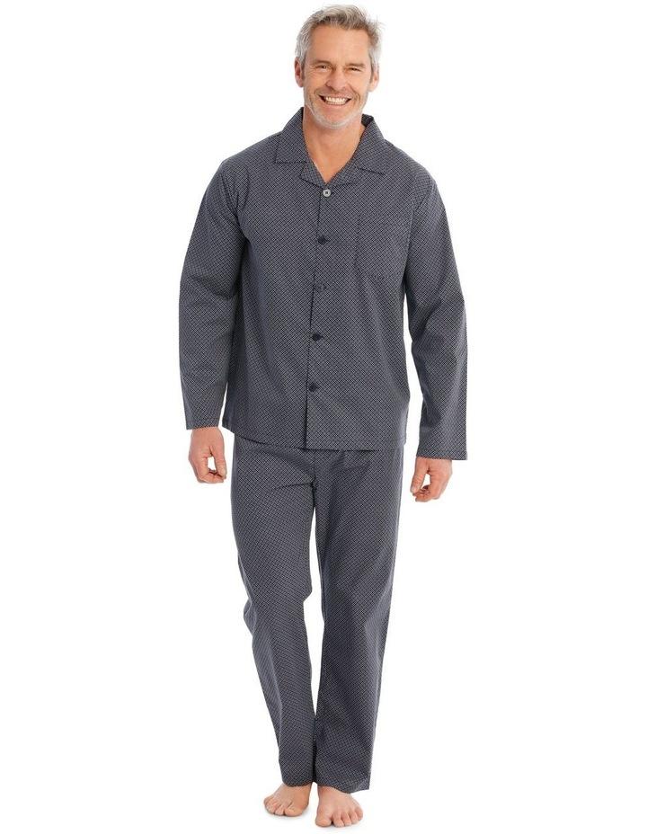 Long Sleeve Poplin PJ Set - Neat image 1