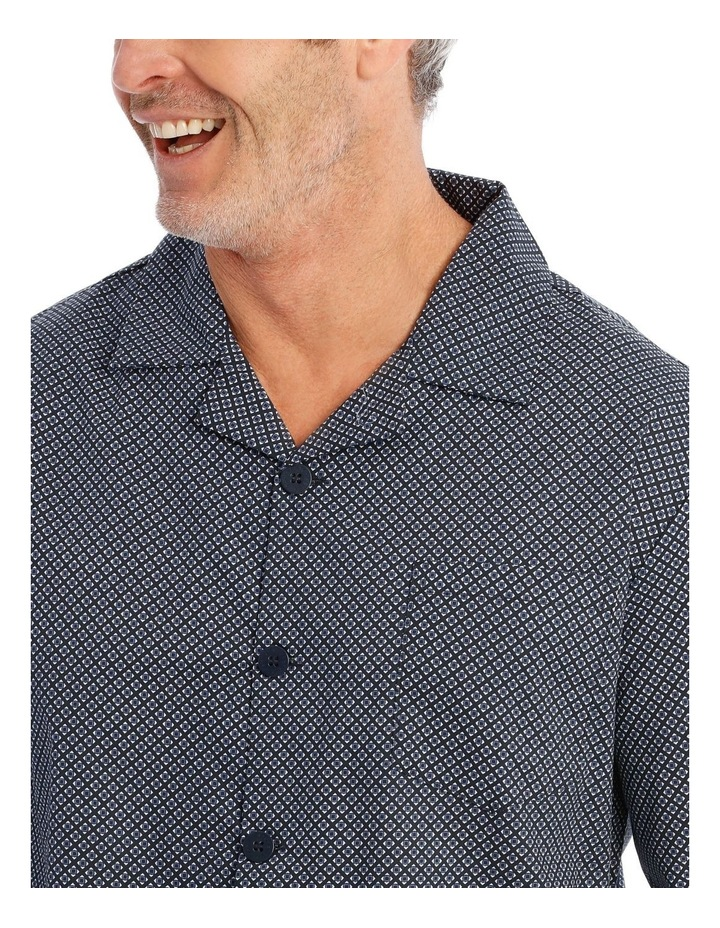 Long Sleeve Poplin PJ Set - Neat image 3