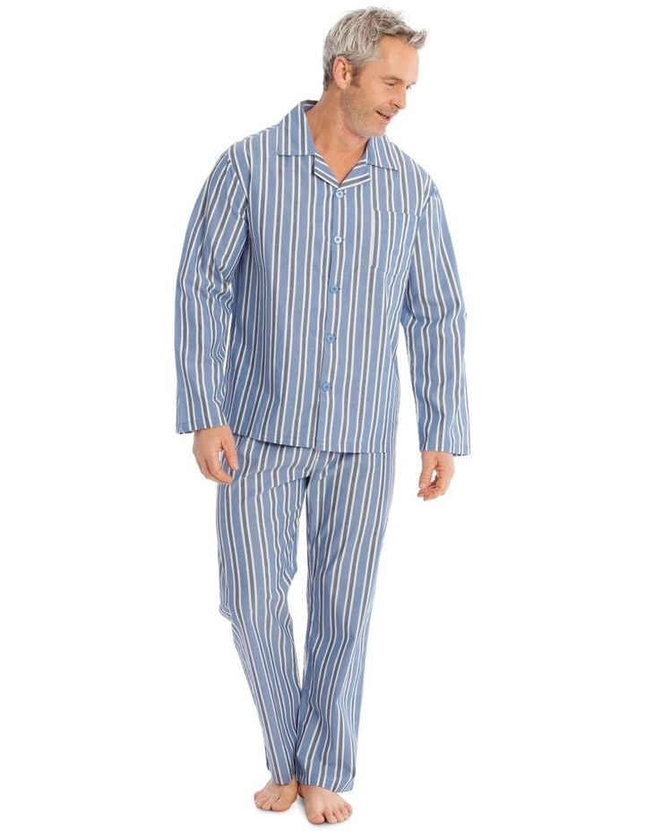 Long Sleeve Poplin PJ Set - Summer Stripe image 1