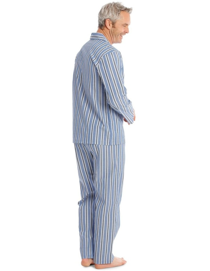 Long Sleeve Poplin PJ Set - Summer Stripe image 2