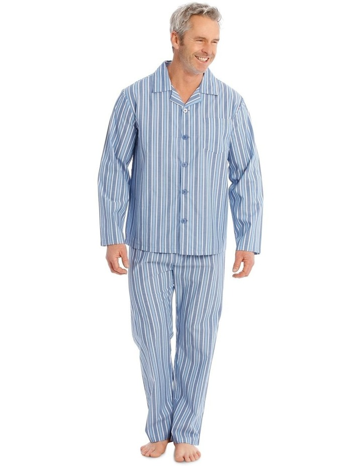 Long Sleeve Poplin PJ Set - Classic Stripe image 1