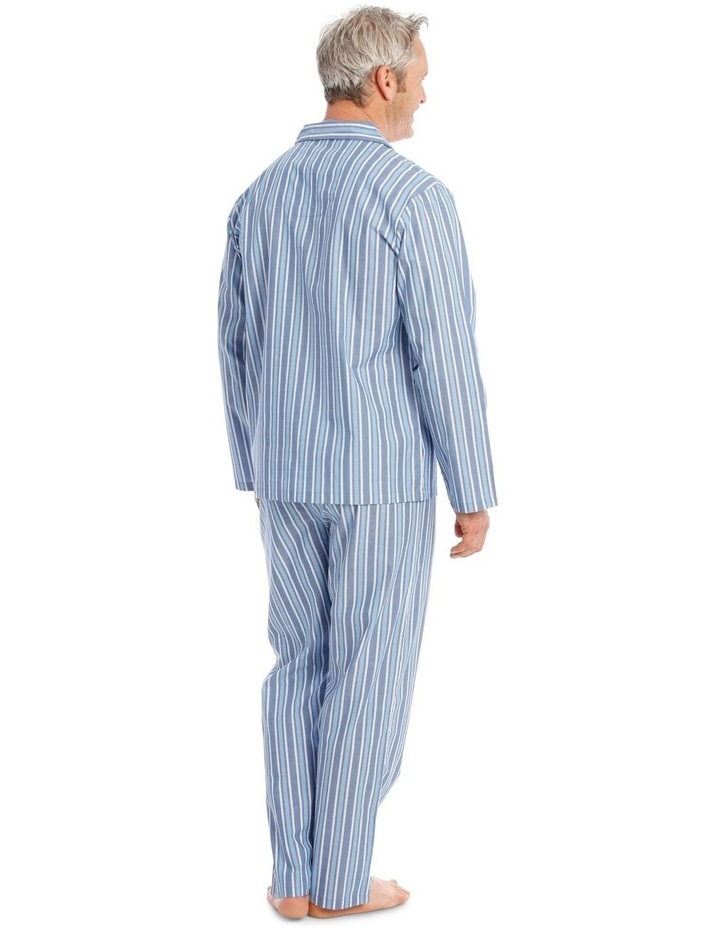 Long Sleeve Poplin PJ Set - Classic Stripe image 2