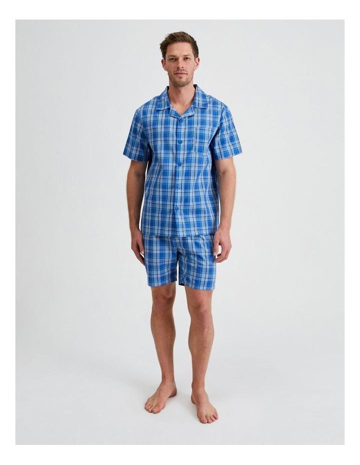 Short Sleeve Poplin PJ Set - Cool Check image 1
