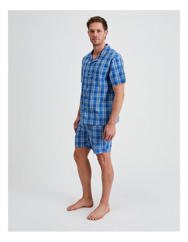 Short Sleeve Poplin PJ Set - Cool Check image 2