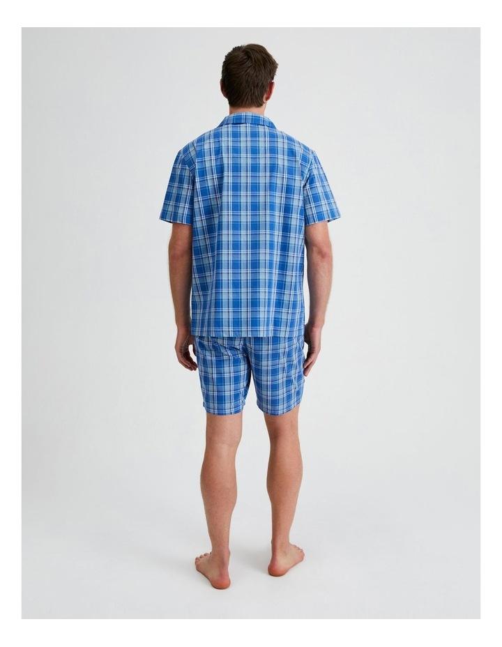Short Sleeve Poplin PJ Set - Cool Check image 3