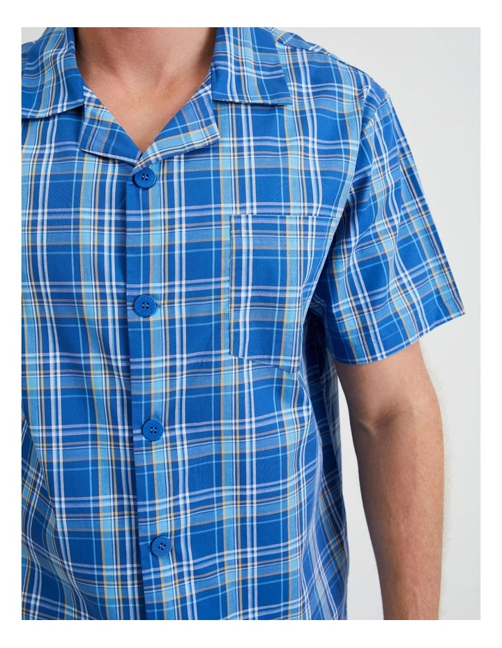 Short Sleeve Poplin PJ Set - Cool Check image 4