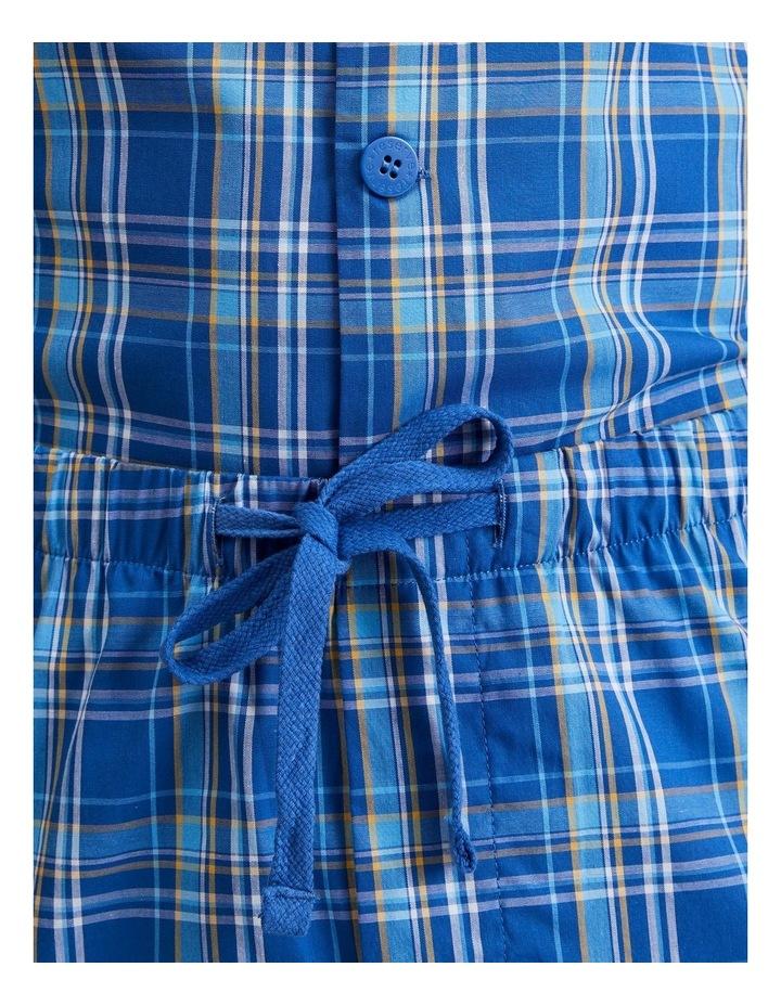 Short Sleeve Poplin PJ Set - Cool Check image 5