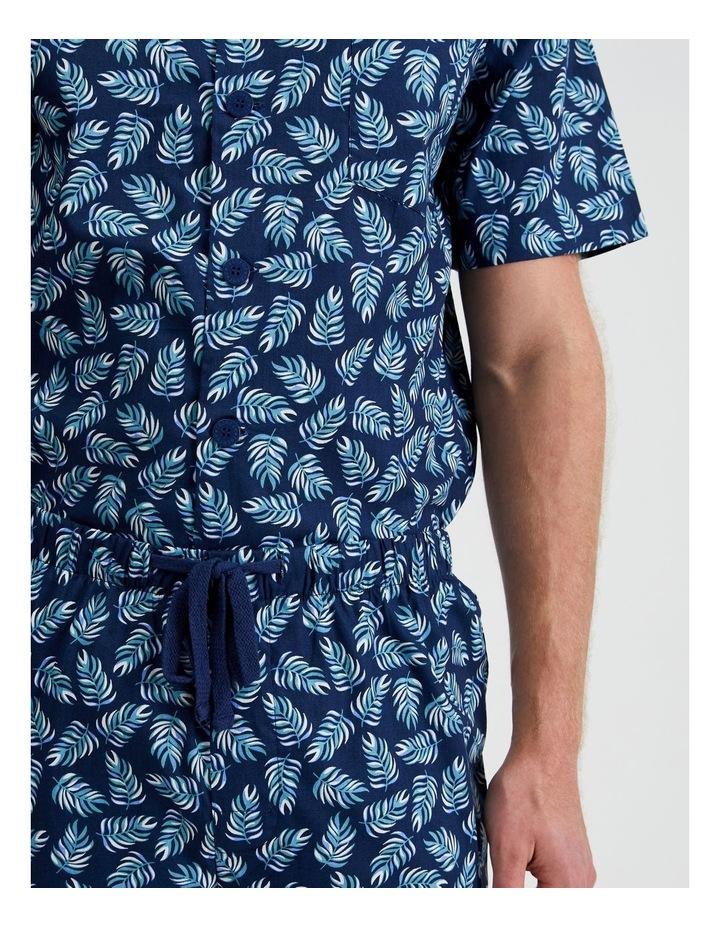 Short Sleeve Poplin PJ Set - Summer Leaves image 5