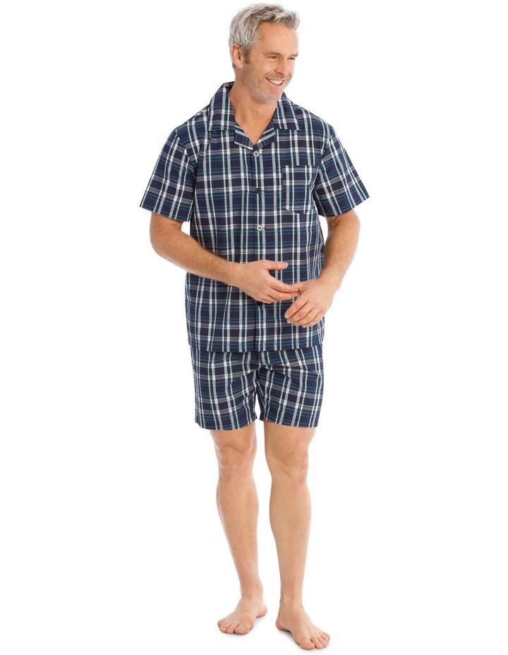 Short Sleeves Poplin PJ Set - Ben Check image 1