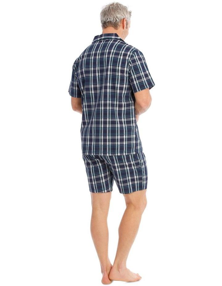 Short Sleeves Poplin PJ Set - Ben Check image 2