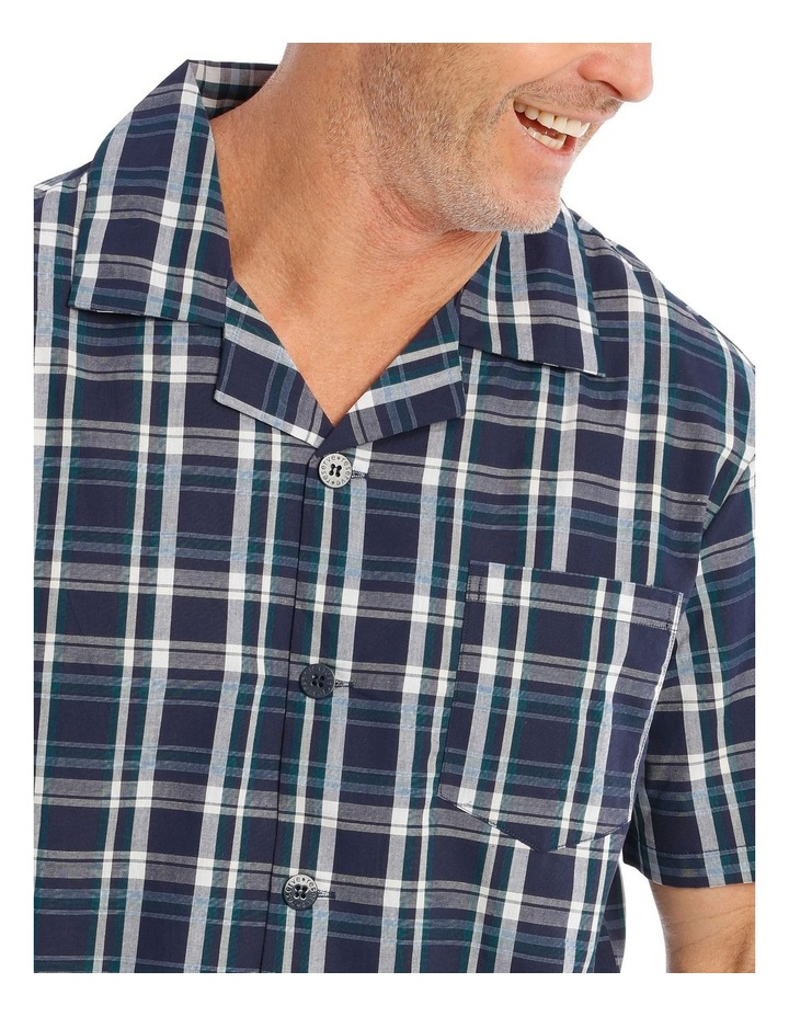 Short Sleeves Poplin PJ Set - Ben Check image 3