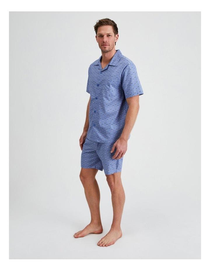Short Sleeve Poplin PJ Set - Sail Stripe image 2