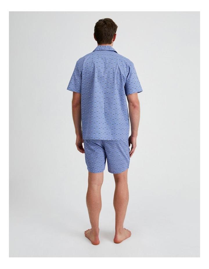 Short Sleeve Poplin PJ Set - Sail Stripe image 3