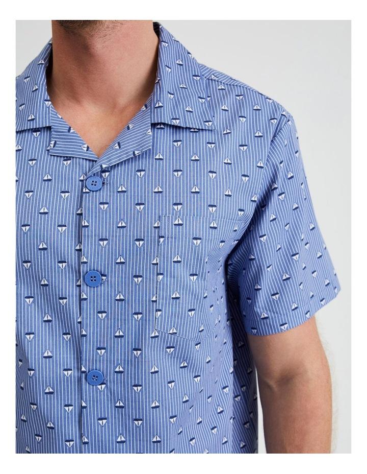 Short Sleeve Poplin PJ Set - Sail Stripe image 4