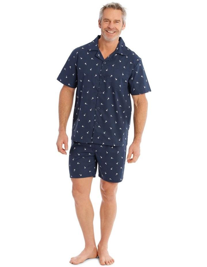Short Sleeve Poplin PJ Set - Palms image 1