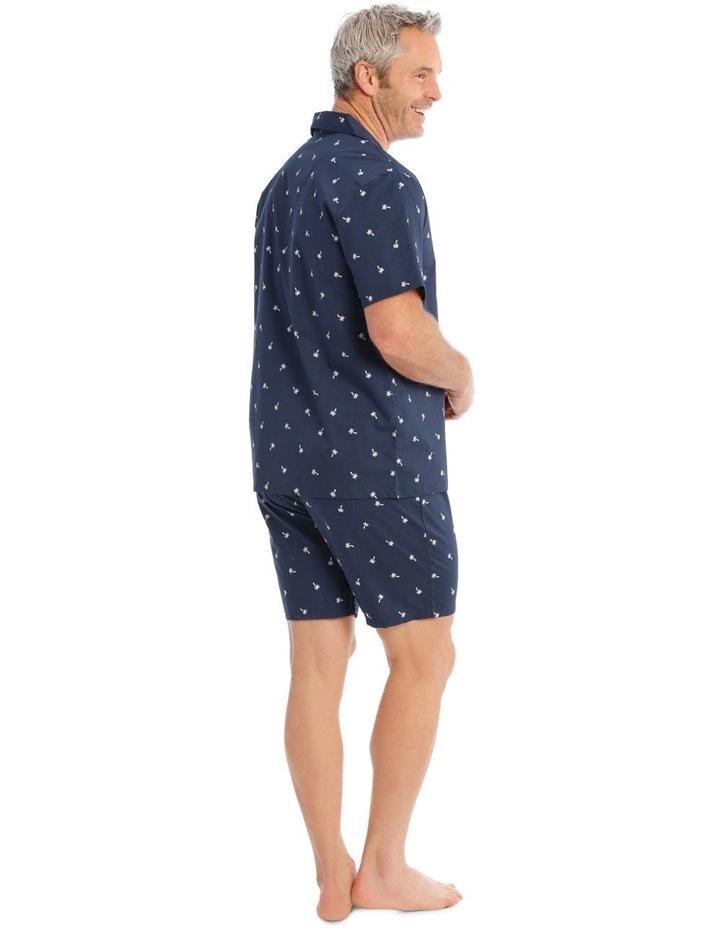 Short Sleeve Poplin PJ Set - Palms image 2