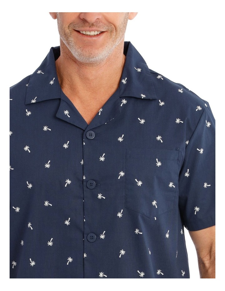 Short Sleeve Poplin PJ Set - Palms image 3