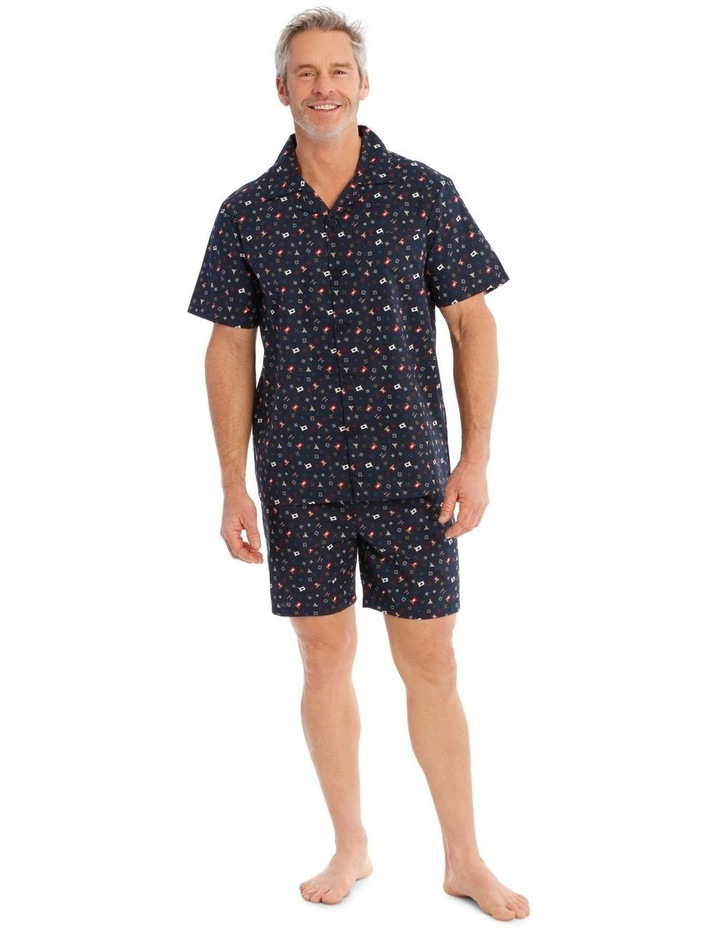 Short Sleeve Poplin PJ Set - Scattered Geo image 1