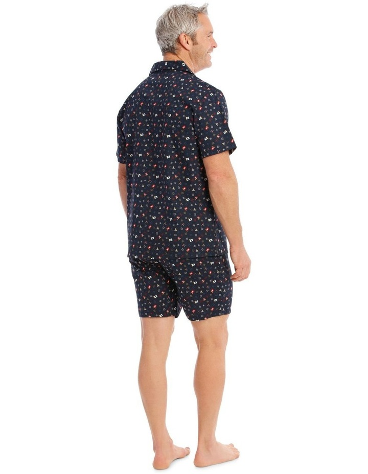 Short Sleeve Poplin PJ Set - Scattered Geo image 2