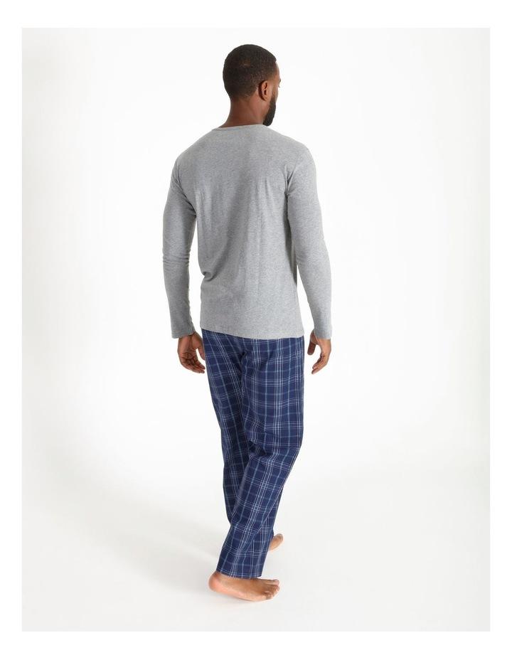 Essentials Long Sleeve Tee & Poplin Pant Pj Set image 2
