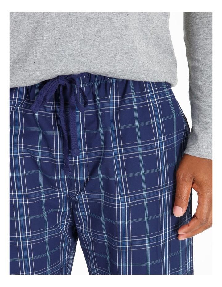 Essentials Long Sleeve Tee & Poplin Pant Pj Set image 3
