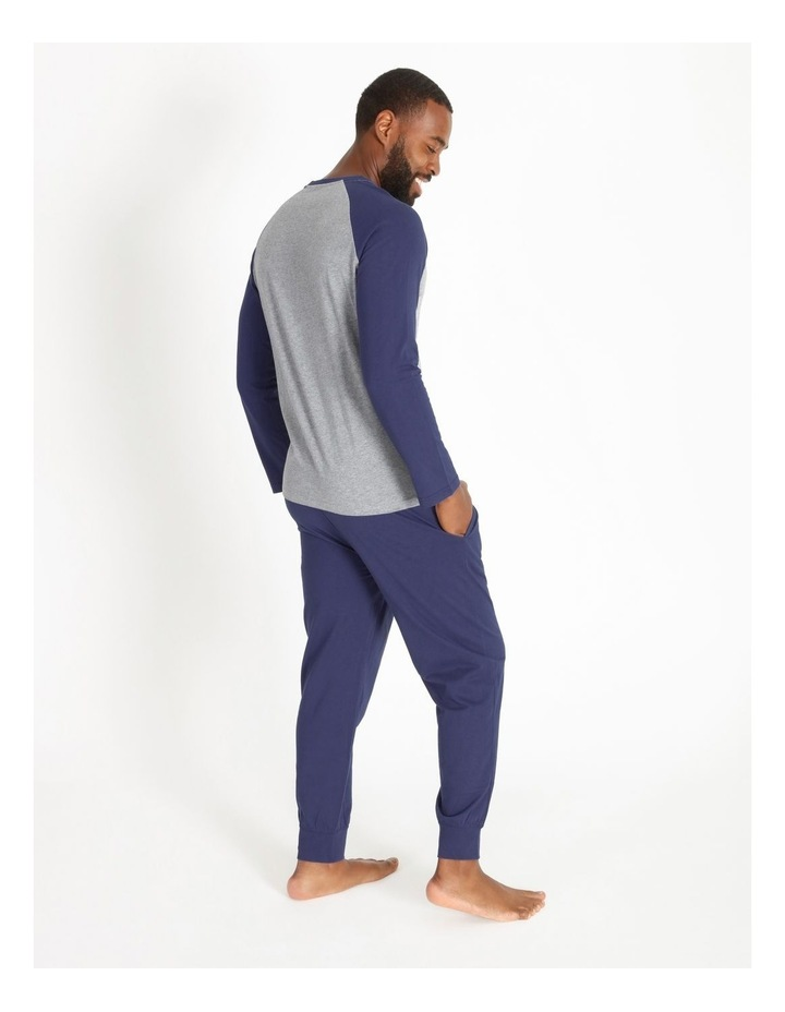 Essentials Long Sleeve Tee & Knit Jogger Pj Set image 2
