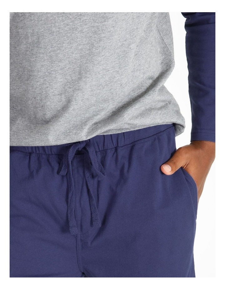 Essentials Long Sleeve Tee & Knit Jogger Pj Set image 3