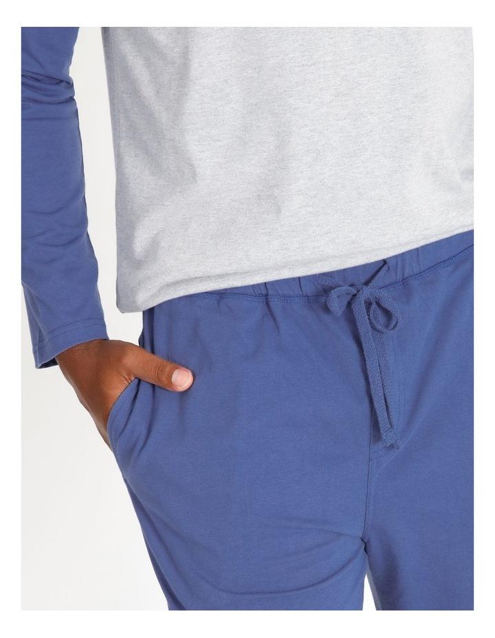Essentials Long Sleeve Tee & Knit Jogger Pj Set image 4