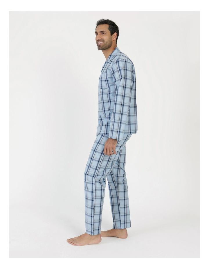 Essentials Long Sleeve Poplin PJ Set - Harvey Check image 2