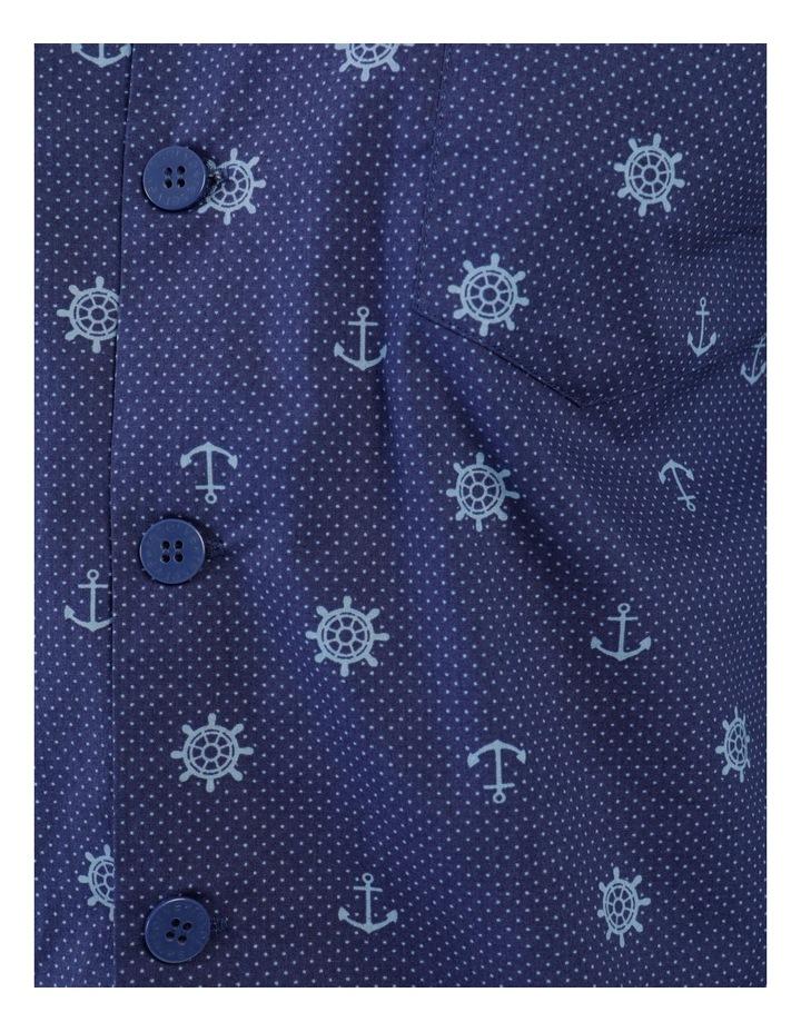Essentials Long Sleeve Poplin PJ Set - Maritime Spot image 3