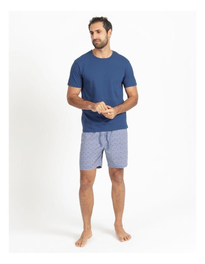 Essentials Short Sleeve Tee & Poplin Short Pj Set - Diamond Stripe image 3