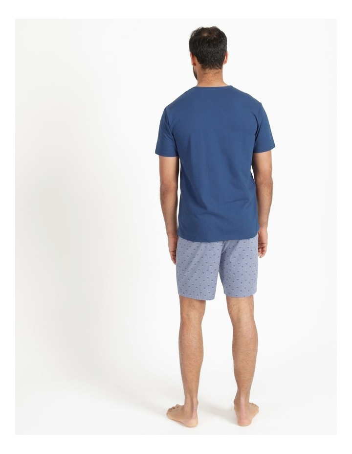 Essentials Short Sleeve Tee & Poplin Short Pj Set - Diamond Stripe image 5