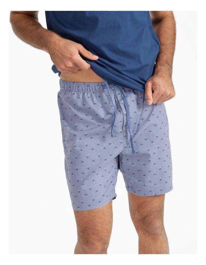 Essentials Short Sleeve Tee & Poplin Short Pj Set - Diamond Stripe image 6