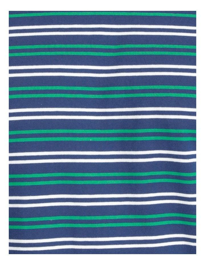 Essentials Short Sleeve Knit Lounge Pj Set  Navy Stripes image 7