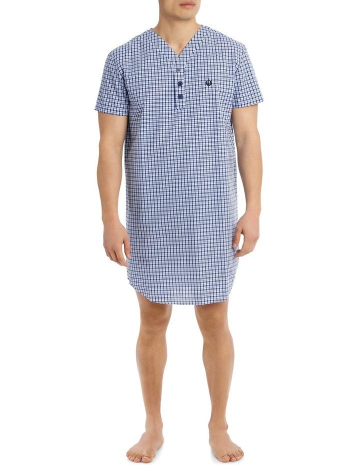 Summer Check Short Sleeve Poplin Niteshirt image 1